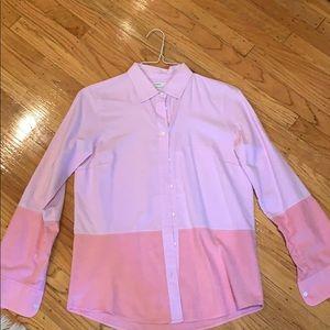 Jcrew two-tone pink oxford